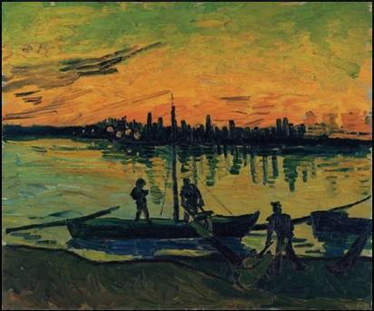 Vincent van Gogh, Gli scaricatori ad Arles, 1888.