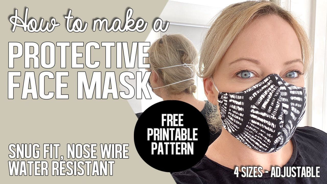 Face Mask Pattern Noelle O Designs In 2020 Face Mask Mask