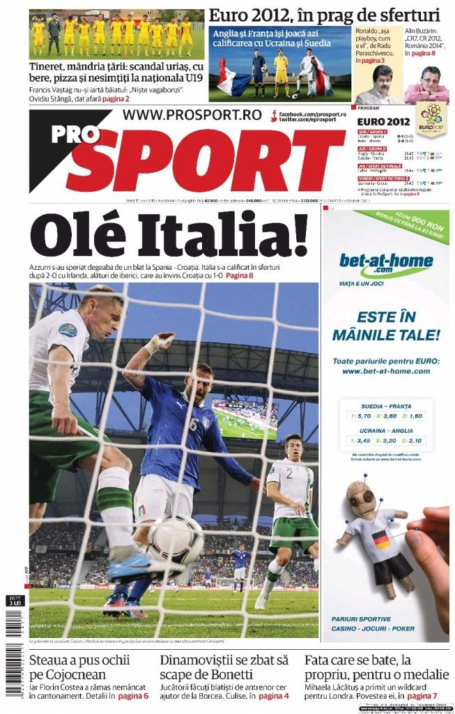 Prensa deportiva del 19 de junio 2012   discutivo.com