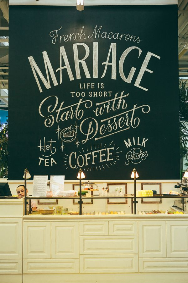 MARIAGE Chalk Lettering   Chalk lettering, Typography and Chalkboards