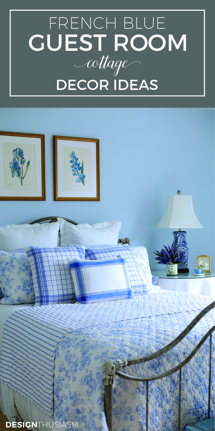 French Blue Guest Room For A Bon Nuit Guest Room Decor Bedroom - French blue bedroom design