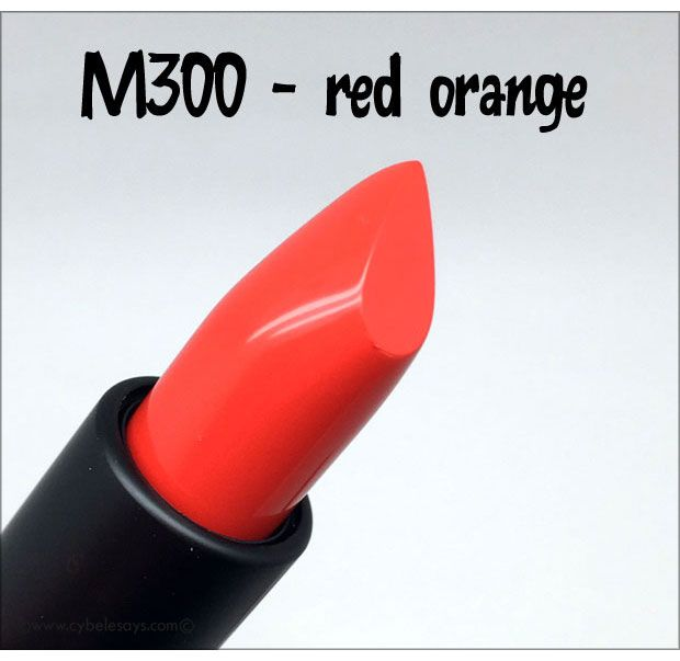 Make-Up-For-Ever-Artist-Rouge-Creme-in-M300, a red orange, from @makeupforeverus