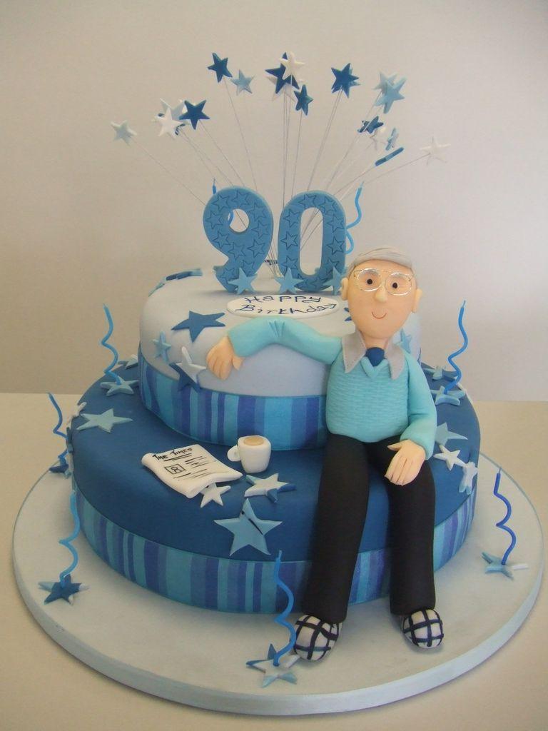 Cake 90th Birthday Bolos De Aniversario Para Homens