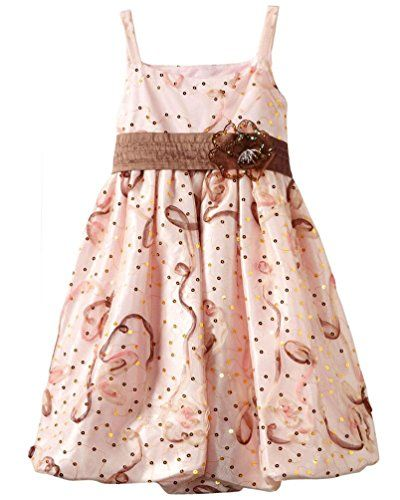 0e411c8ef34 Bonnie Jean Big Girls 716 Shimmer Pink Gold Sequins Bonaz Bubble Dress 10     You can find more details by visiting the image link.