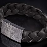 Seven London dark paisley leather  bangle http://www.maketh-the-man.com/2013/07/seven-london-mens-jewellery.html