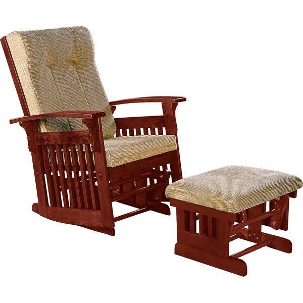 Glider Rockers | Mission Glider Rocker Chair U0026 Ottoman   Cherry Or Espresso