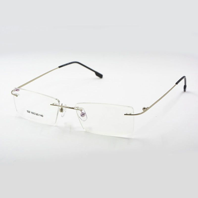 845f941b3d Titanium Memory Flexible Rimless Frame Eyeglasses Optical Prescription  Glasses Spectacle for Women and Men Frame Shape Customed