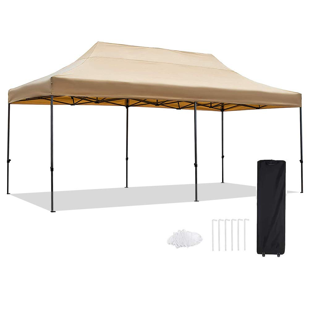Amazon Com Snail 10 X 20 Outdoor Easy Pop Up Canopy Tent With Waterproof 420d Top Portable Event Party Sha Canopy Tent Pop Up Canopy Tent Portable Shelter