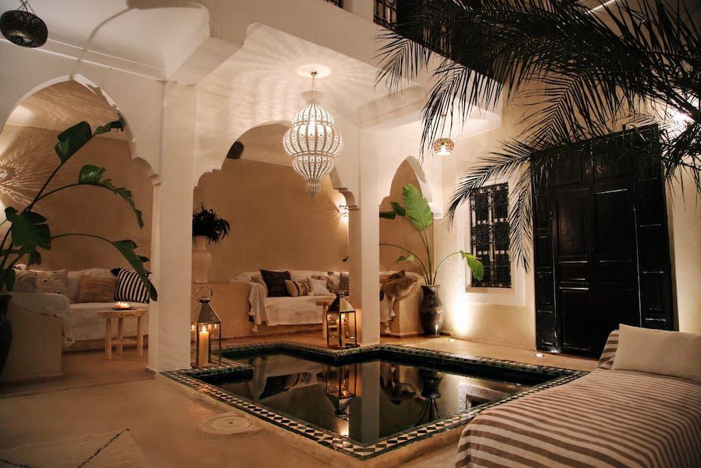 RIAD SHIRAZ ☆ Riad Privé Avec Piscine - Maisons à louer à Marrakech - location de villa a agadir avec piscine