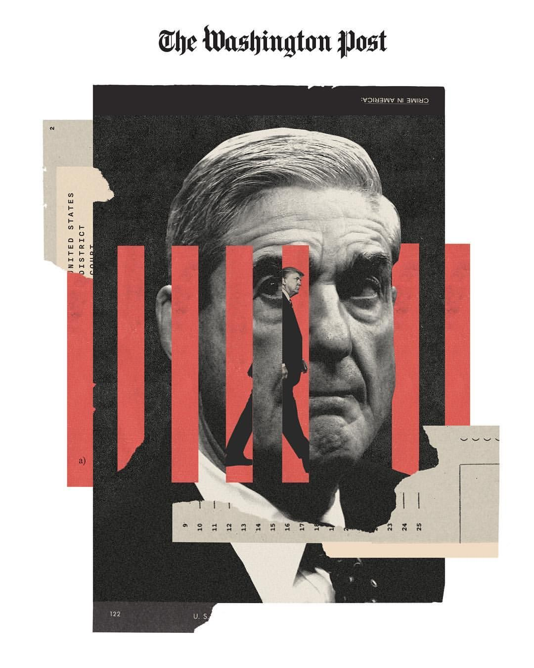 For Today S Washington Post Outlook Section Mueller Has Trump Boxed In On Obstruction Of Justice Thanks Collage Design Graphic Poster Graphic Design Posters