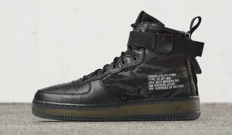Release Date: Nike Special Field Air Force 1 Mid Black Tiger Camo