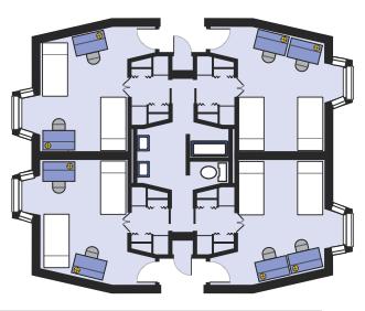 Tour Ridgeway Beta University Residences Wwu Student Apartment Student Accommodation Floor Plans