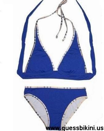 blue burberry bikini
