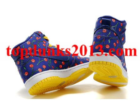 san francisco 4975f ec182 Skinny Paule Marrot Cherries Nike Dunk High Top Women Internet Sales