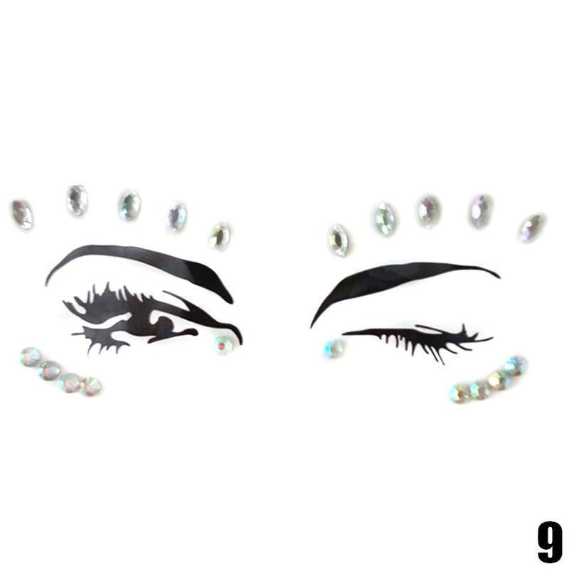 Adhesive Temporary Face Gems Rhinestone Tattoo in 2019  601d527ebbd7