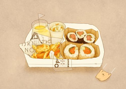 Bento-Lunch-Blog on Tumblr | y u mԅ(♡﹃♡ԅ) in 2019 | 음식 그림 ...