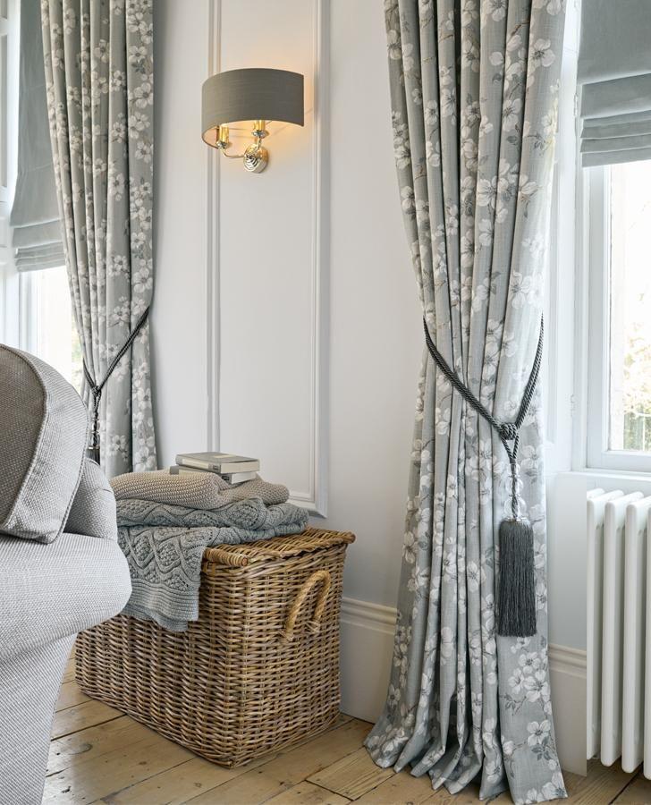 Iona Slate Grey Ready Made Curtains