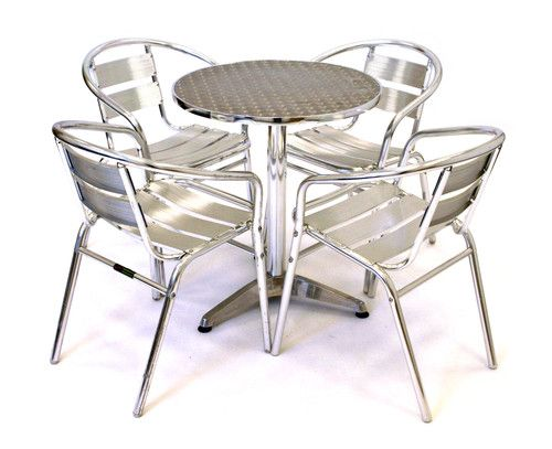 aluminium bistro furniture cafe table and chairs cheap garden furniture