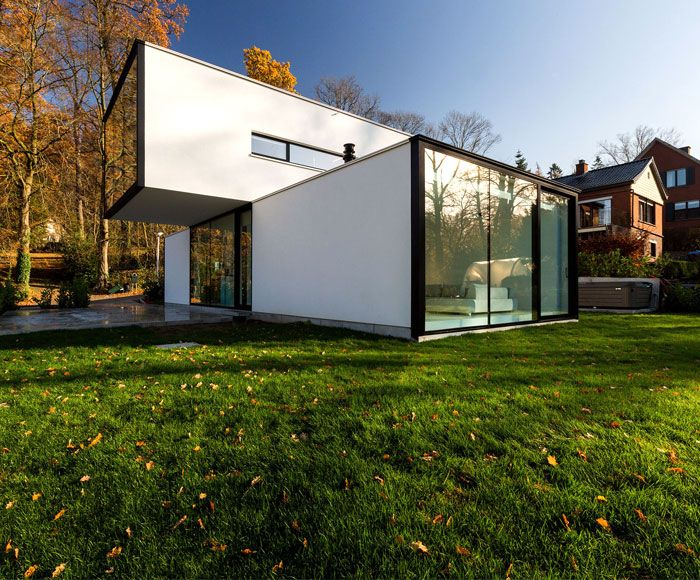 Modern CubeShaped House in Belgium Modern architecture