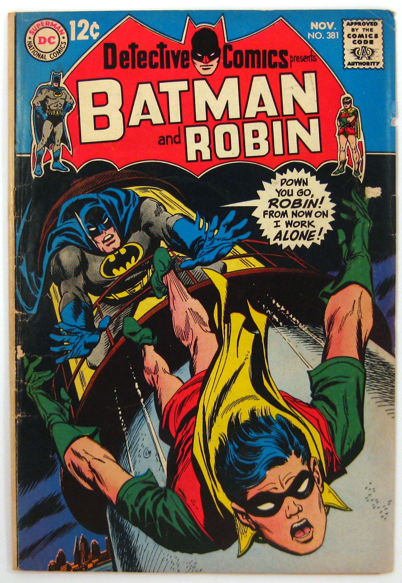 Detective Comics #381 Batman Robin Elongated Man DC Comics