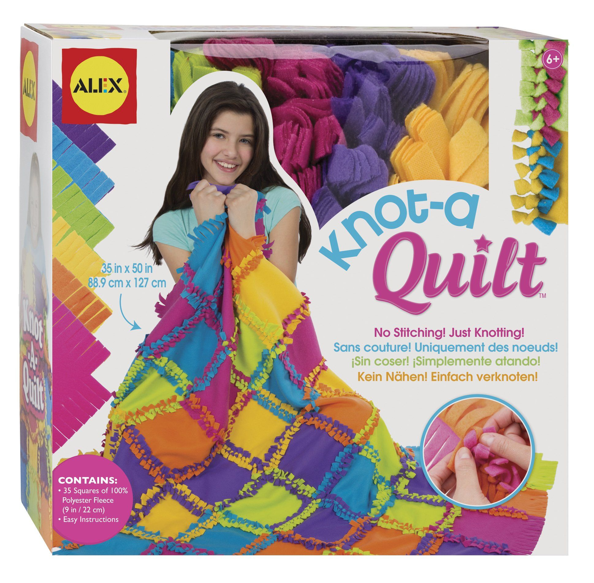 Alex toys craft knot a quilt kit toys games