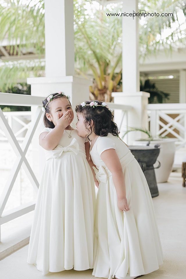 A Classic Wedding in Bali | Flower girl gown, Flower girl