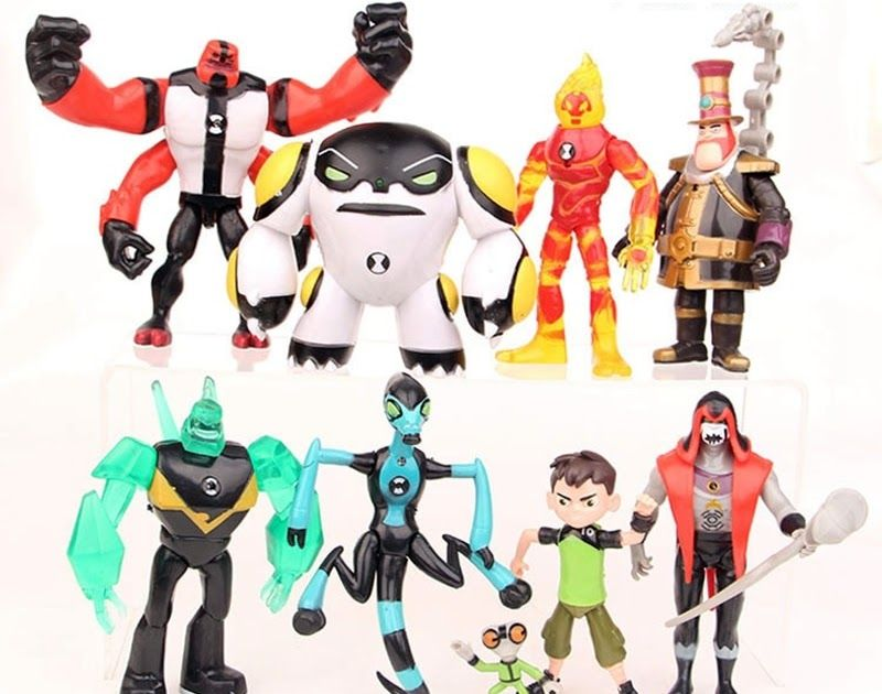 Choose from Diamondhead Heatblast OR Four Arms Ben 10 Deluxe Power Up Figure