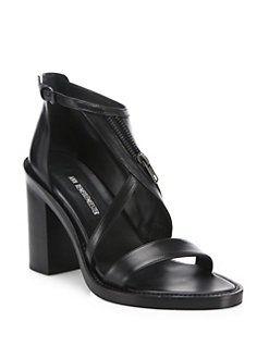 ANN DEMEULEMEESTER Block Heel Sandals