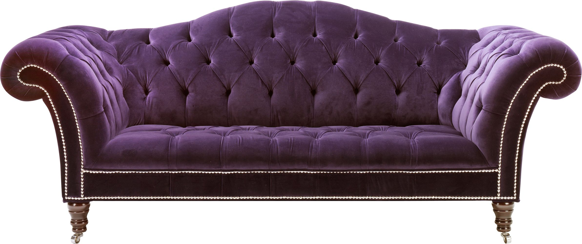 The Grand Victorian Sofa From Design Is Stunning In This Rich Purple Velvet