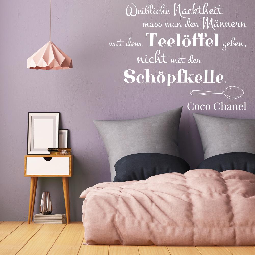 Bezaubernd Wandtattoos Sprüche Sammlung Von Wandtattoo - Chanel Teelöffel