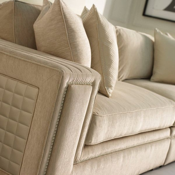 Welcoming proportions and exquisite upholstery define the Seymour ... : define quilted - Adamdwight.com