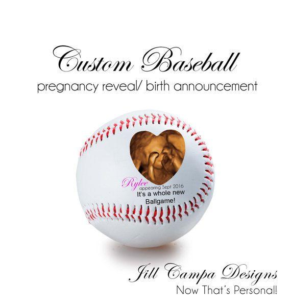 Personalized Baseball PREGNANCY REVEAL, Birth Announcement, Sonogram gift, Custom Baseball, Fathers Day gift, sonogram