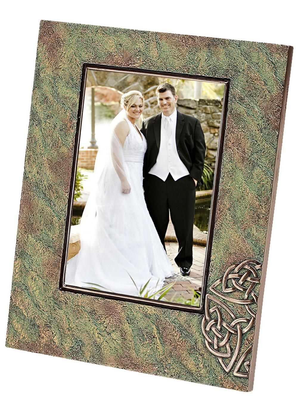 Genesis Celtic Frame This Genesis Celtic Frame Has Been Beautifully Crafted From Cold Cast Bronze Made In Co Irish Wedding Gifts Irish Gifts Irish Traditions