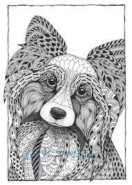 Zentangle Dogs Dog Coloring Page Whimsical Dog Portraits Dog Portraits