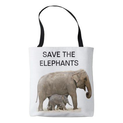 Save the elephants tote bag tote bag negle Gallery