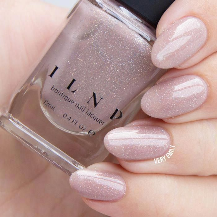 Chleo - Neutral Blush Pink Holographic Sheer Jelly Nail Polish by ILNP