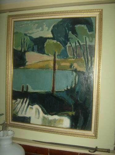Bello Oleo Del Maestro Chileno Augusto Barcia Del Año 1968 $19,767.44 USD Venezuela Cuadros y Pinturas