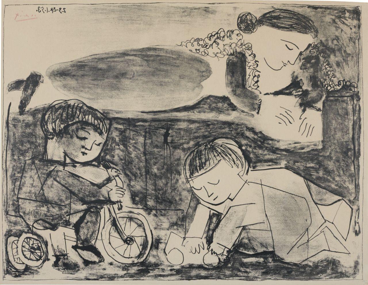 """Pablo Picasso, """"Les jeux et la lecture"""", 1953"""