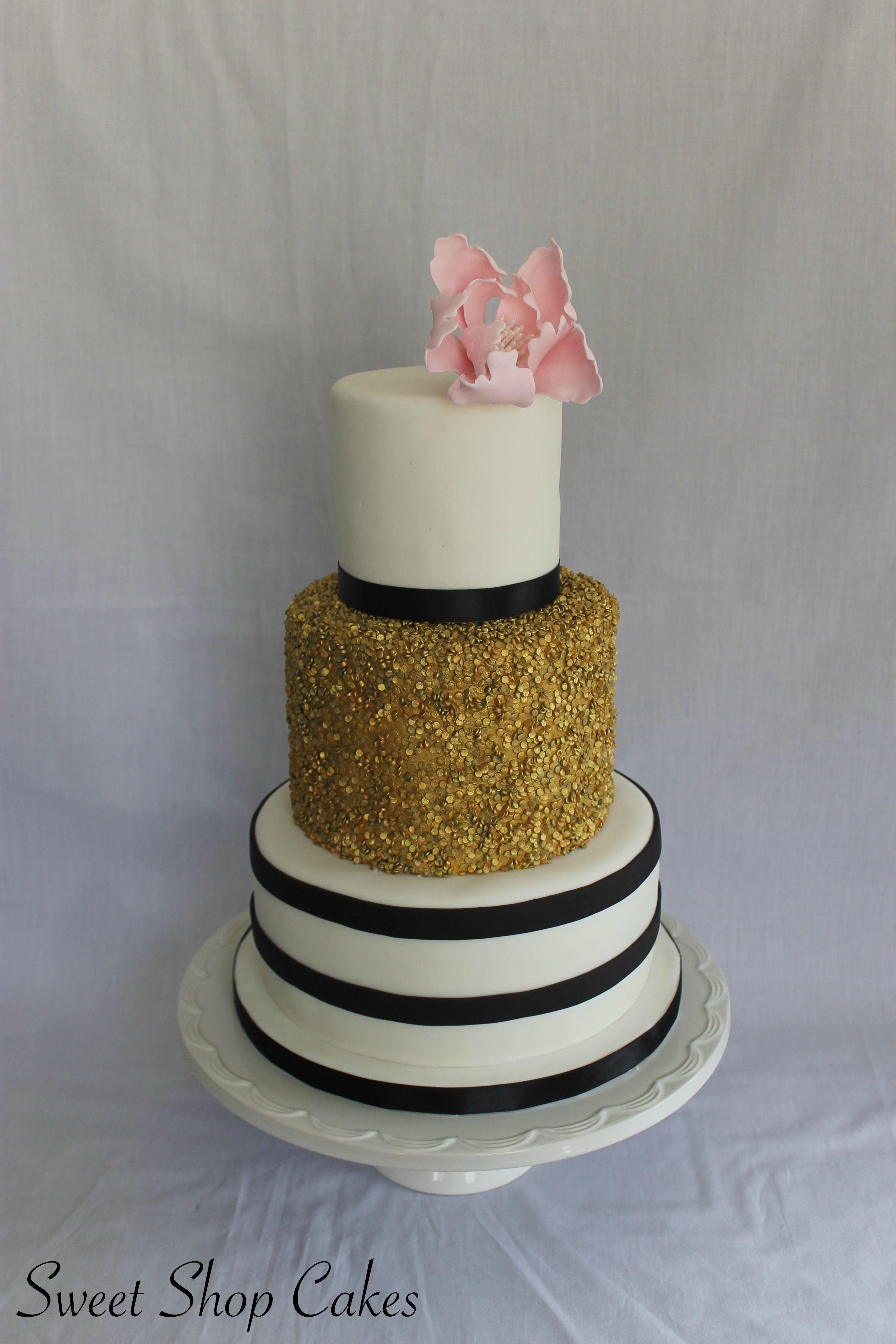 Elegant 20th Birthday Cake