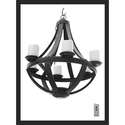 allen + roth Battery-Operated Gazebo Chandelier | River Dr Dining ...