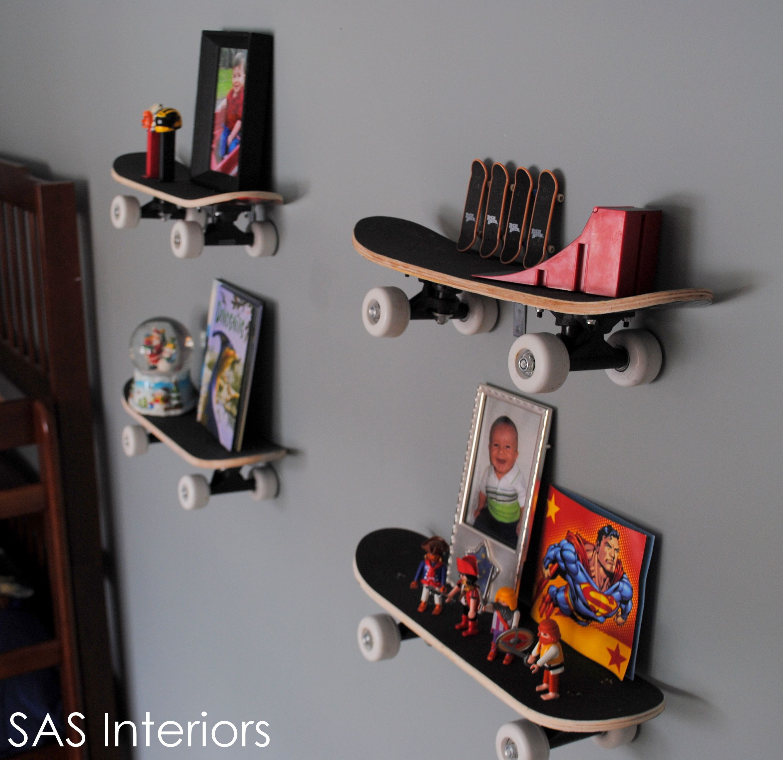 AuBergewohnlich Hochwertig Skate Board Shelves Cute For A Kids Bedroom Or A Playroom