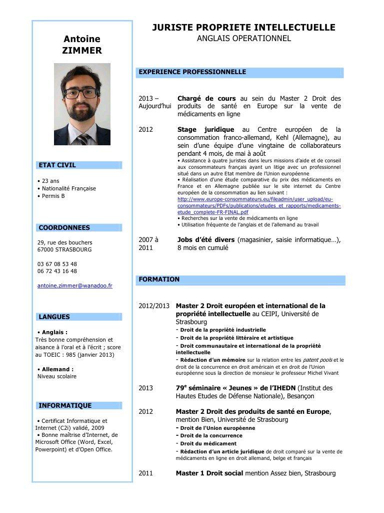 cv word gratuit telecharger 2015 Modèles de lettres, Cv