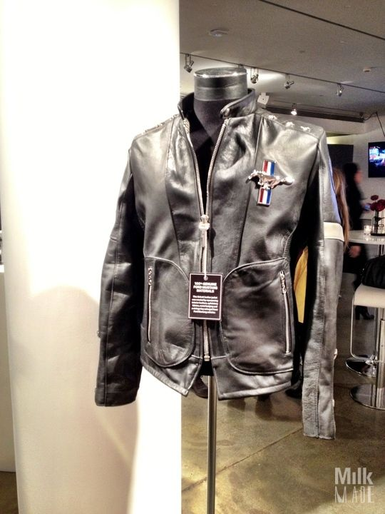 Rad Leather Jacket Made Entirely Out Of Ford Mustang Leather Fordny Leather Jacket Ford Jackets