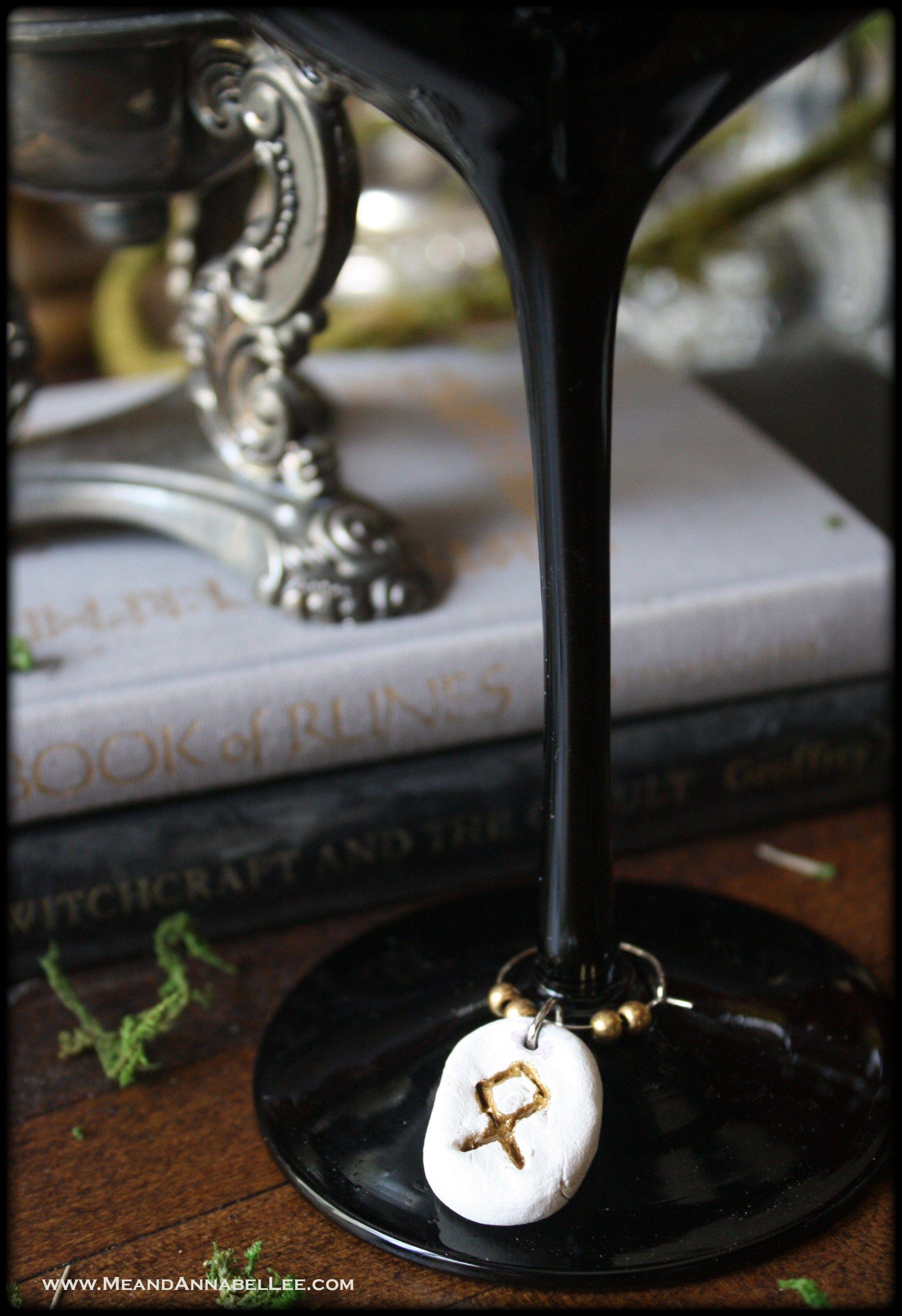 DIY Rune Stone Wine Charms | thanksgiving appetizers | Rune