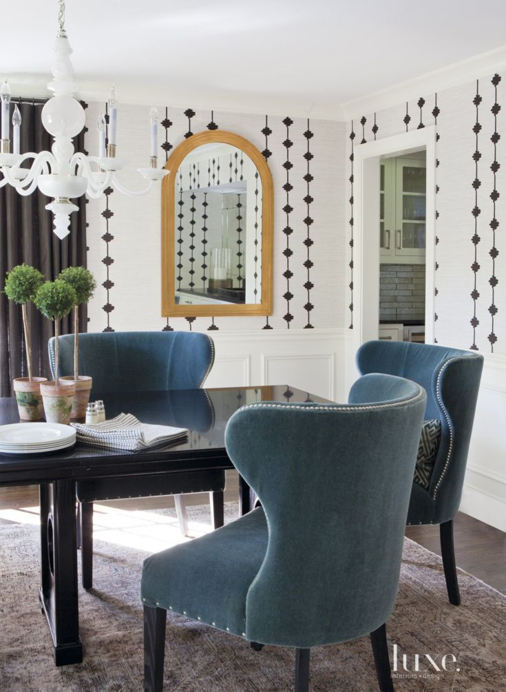 Marker Used Chairs By Verellen Upholstered In A Vibrant Textile