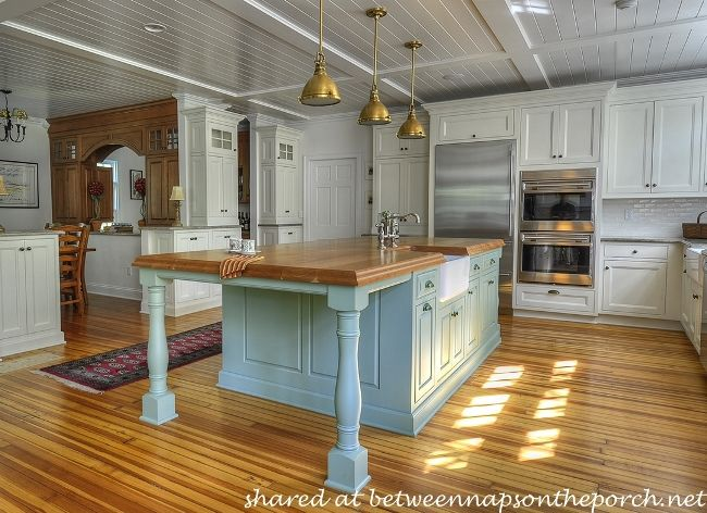 White Country Kitchen With Butcher Block 10 dream kitchens: cottage, french country and traditional at its