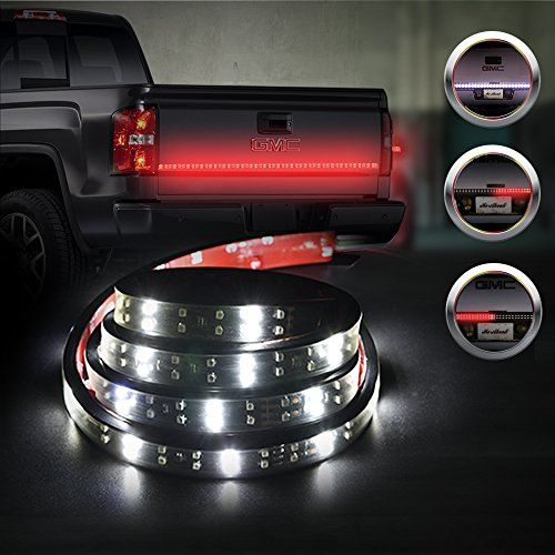 Mictuning double row 60 truck tailgate led strip light bar red mictuning double row 60 truck tailgate led strip light bar redwhite reverse turn aloadofball Images