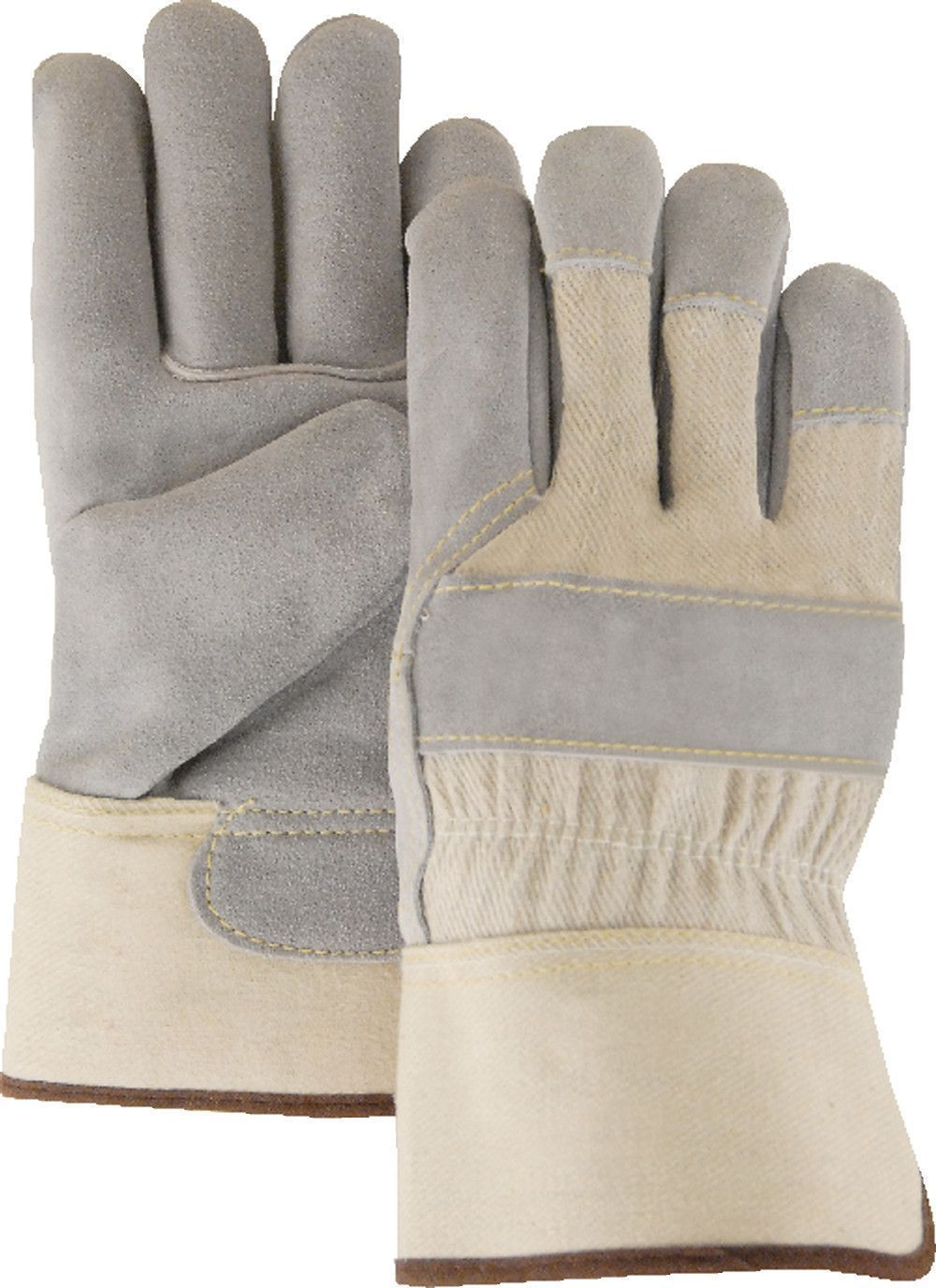 Leather palm work gloves wholesale - Leather Majestic 1800 Split Cowhide Leather Palm Work Gloves