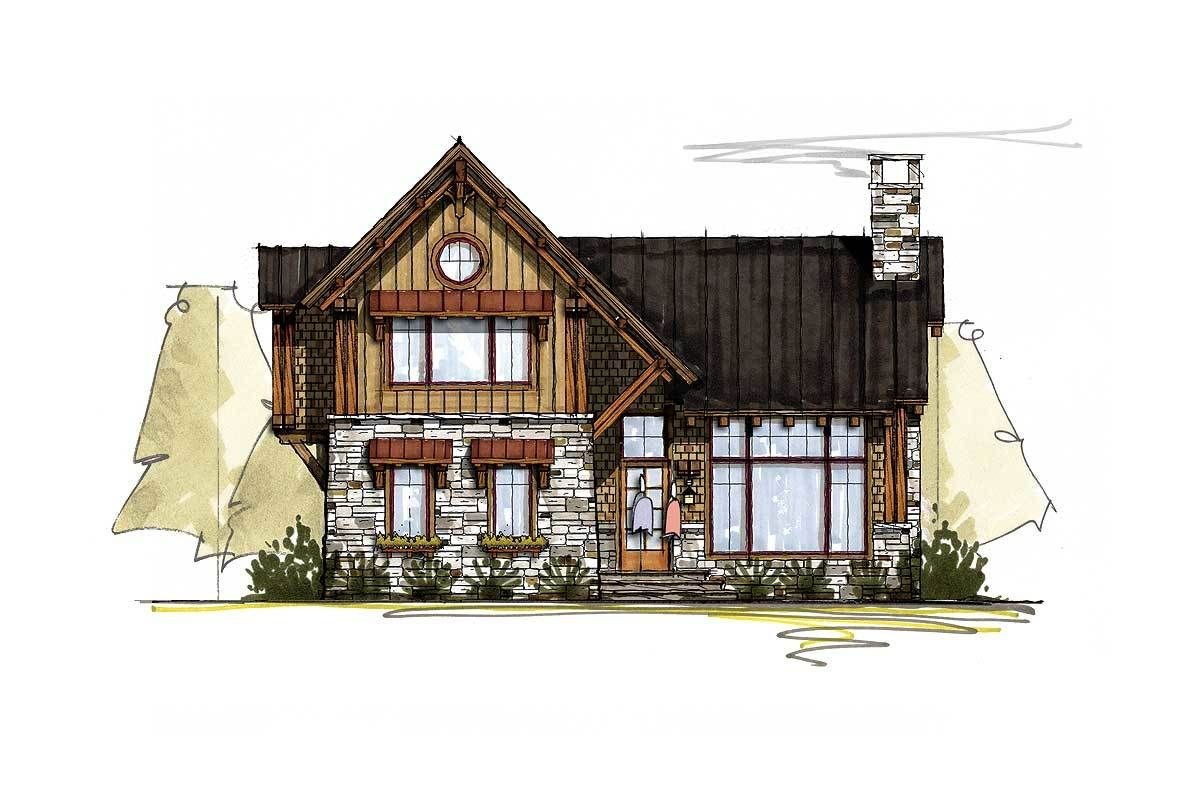Plan 18767ck Rustic Mountain Getaway Mountain House Plans Log Home Decorating House Plans