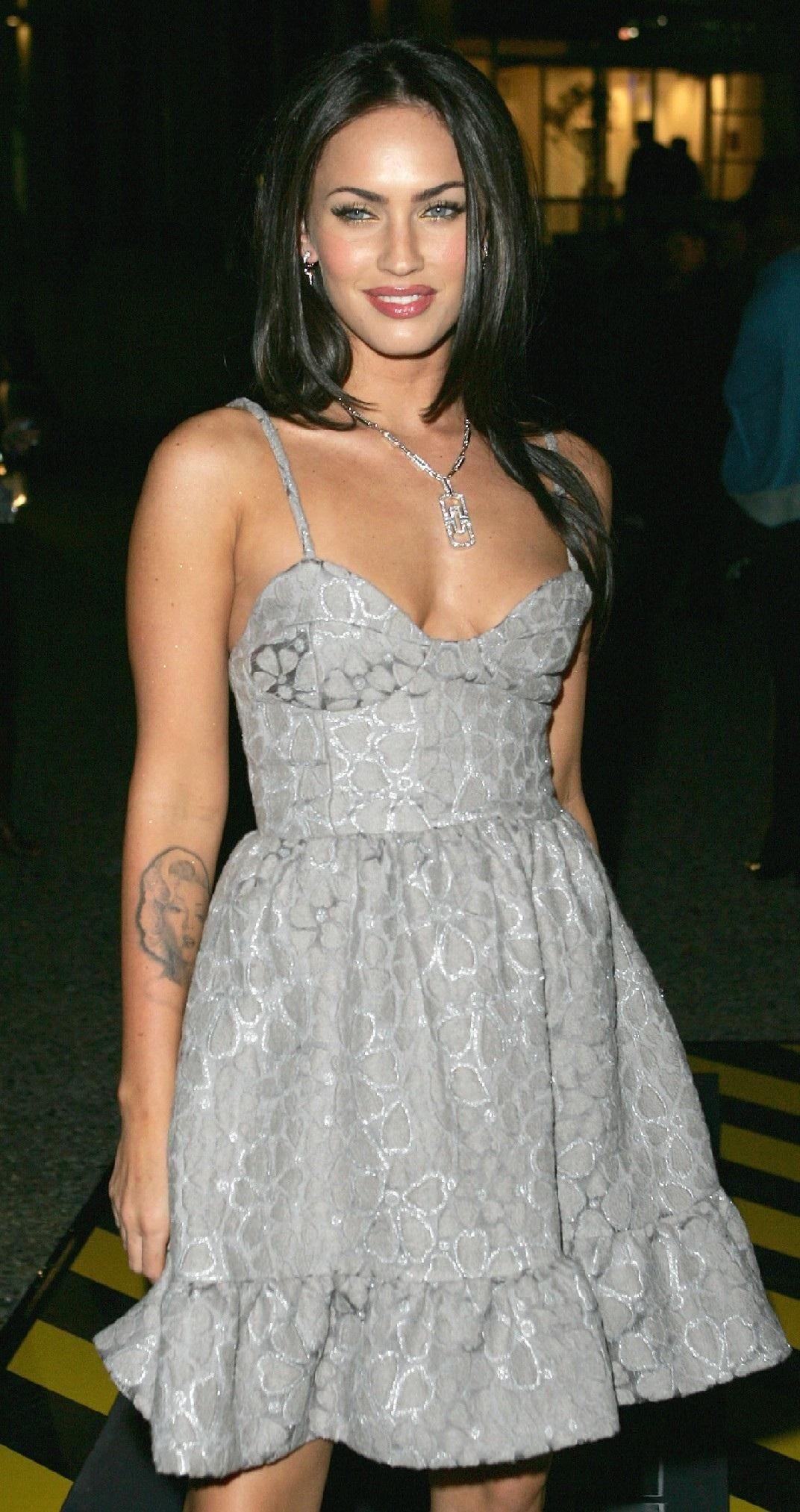 ae7e8dad9 Megan Fox Grey Dress Transformersaustraliapremiere | ❤MEGAN FOX ...